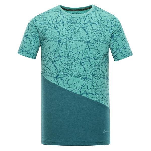 Zelené pánské tričko s krátkým rukávem Alpine Pro - velikost XS