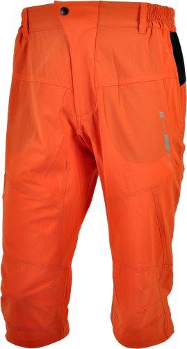 Oranžové tříčtvrteční 3/4 pánské turistické kalhoty Silvini - velikost M
