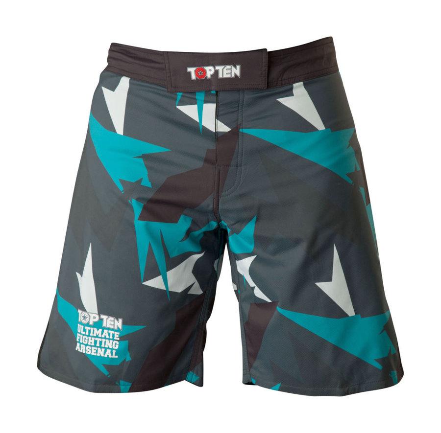 Modro-šedé MMA šortky Top ten - velikost S