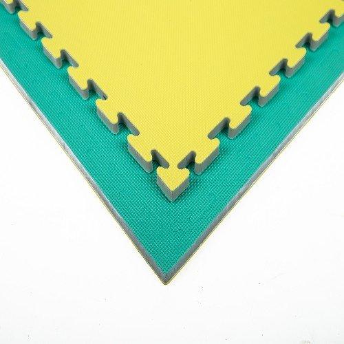 Tatami - Xgym Tatami puzzle - BASIC 2 cm GREEN/YELLOW Barva: žluto-zelená