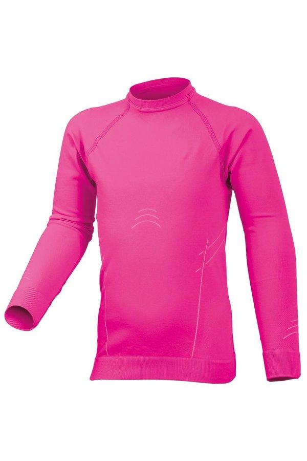 Růžové dívčí termo tričko s dlouhým rukávem Lasting