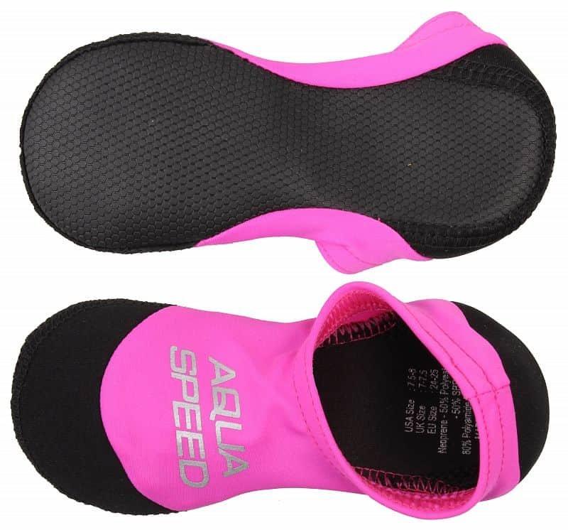Růžové dětské neoprenové ponožky Aqua-Speed