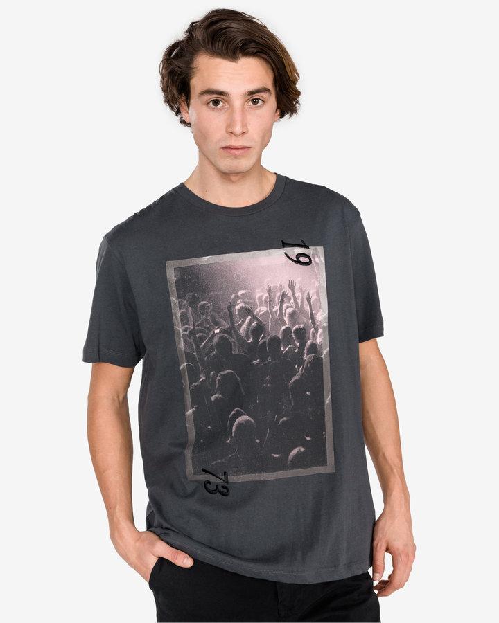 Šedé pánské tričko s krátkým rukávem Pepe Jeans