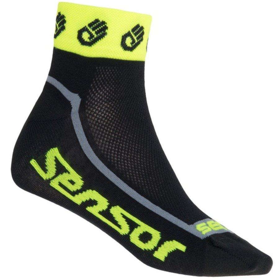 Černo-žluté pánské ponožky Race Lite, Sensor - velikost 35-38 EU