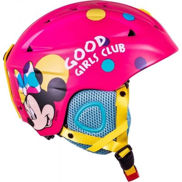 Růžová dívčí lyžařská helma Disney Brand - velikost 55-56 cm