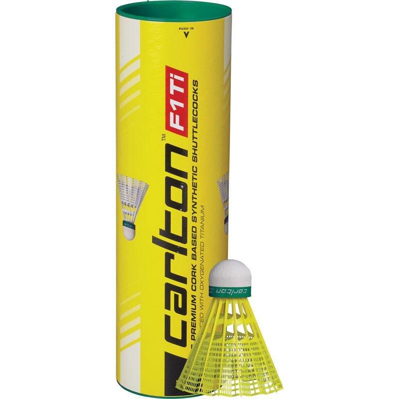 Žlutý plastový badmintonový míček Carlton - 6 ks