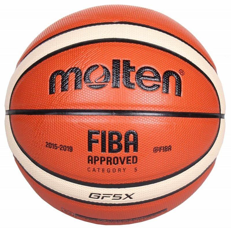 Hnědo-žlutý basketbalový míč BGF5 , Molten - velikost 5