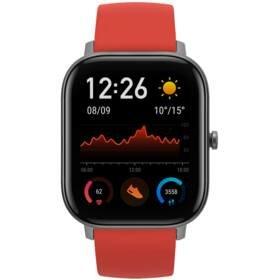 Červené chytré hodinky Amazfit GTS, Xiaomi
