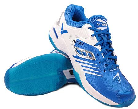 Modré pánské sálová obuvi A730, Victor