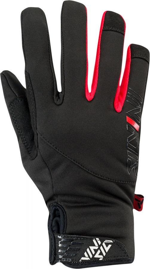 Černo-růžové dámské rukavice na běžky Silvini - velikost M
