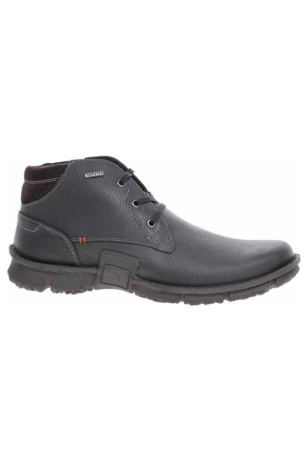 Černé pánské kotníkové boty Josef Seibel