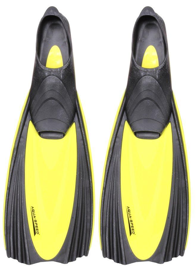 Černo-žluté dlouhé potápěčské ploutve Mare, Aqua-Speed - velikost 36-37 EU