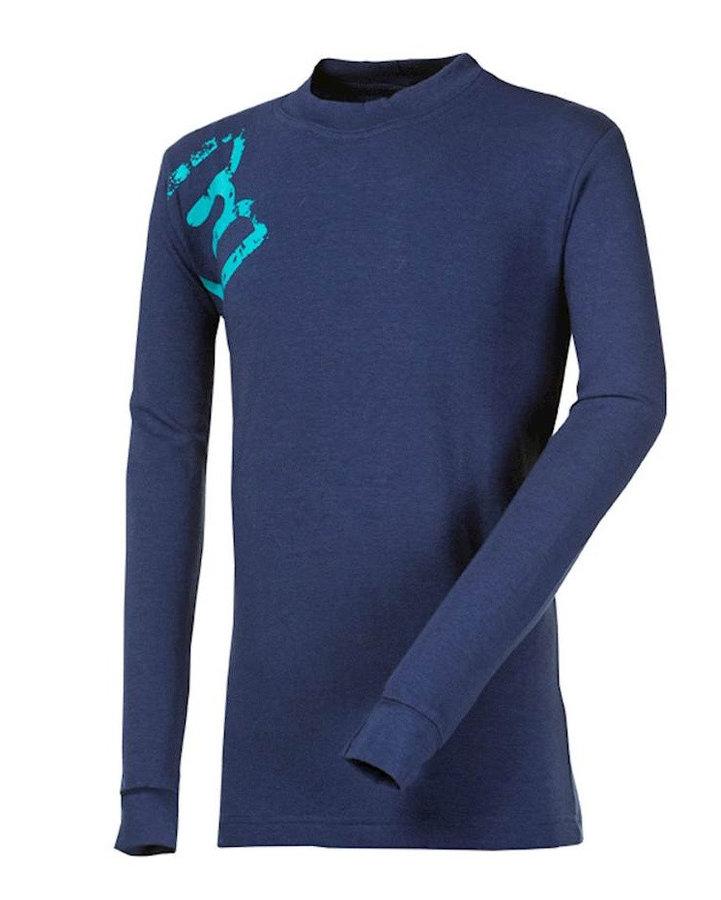 Modré dětské funkční tričko s dlouhým rukávem Progress - velikost 140