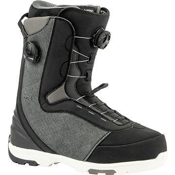 Černé pánské boty na snowboard Nitro - velikost 44 EU