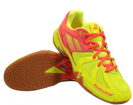 Červeno-žlutá dámská sálová obuv Babolat - velikost 40,5 EU