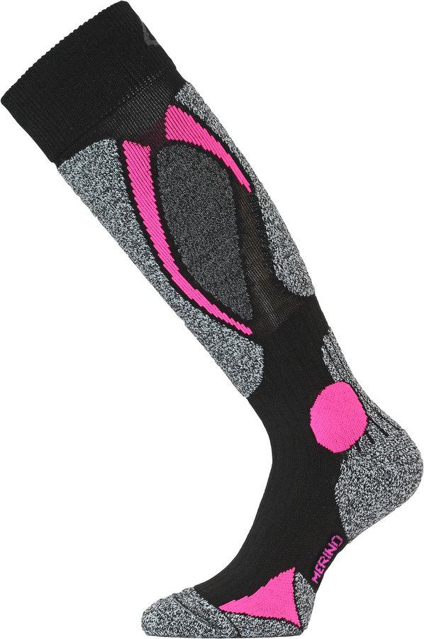 Černé pánské lyžařské ponožky Lasting - velikost 42-45 EU
