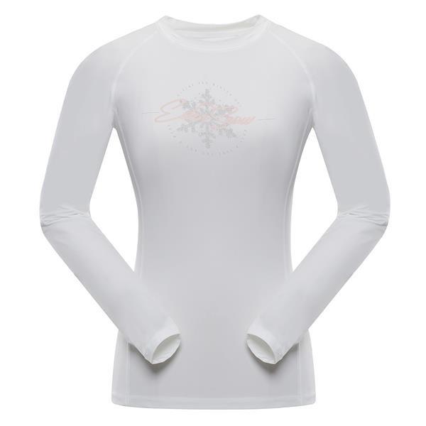 Bílé dámské funkční tričko Alpine Pro