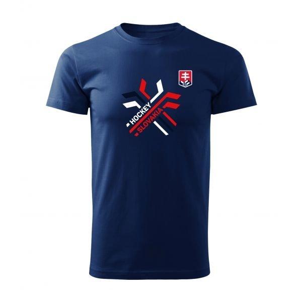 Modré dětské tričko s krátkým rukávem Střída - velikost 112