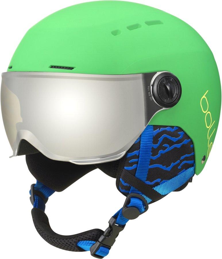 Šedo-zelená dětská lyžařská helma Bollé