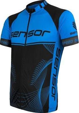 Černo-modrý pánský cyklistický dres Sensor