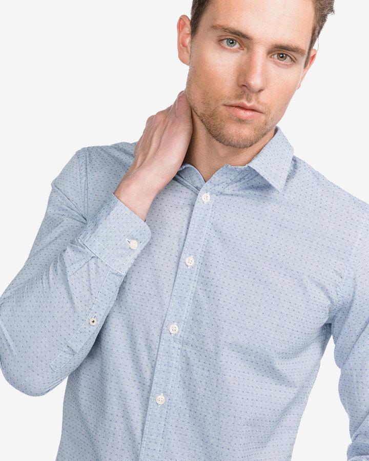 Modrá pánská košile s dlouhým rukávem Pepe Jeans - velikost XXL