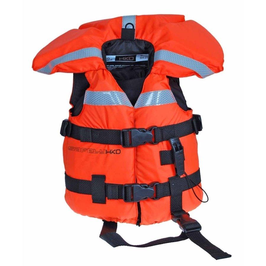 Oranžová dětská plavecká vesta Hiko