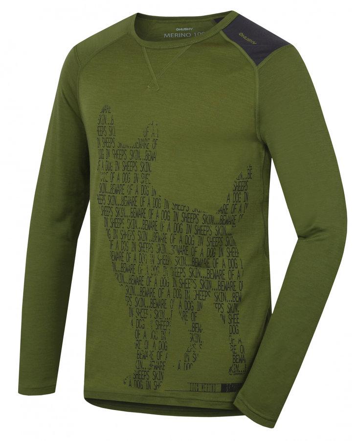 Zelené pánské termo tričko s dlouhým rukávem Husky