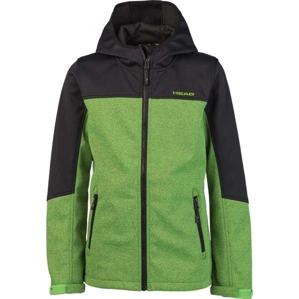 Černo-zelená softshellová chlapecká bunda Head - velikost 116