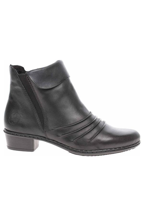 Černé dámské zimní boty Rieker