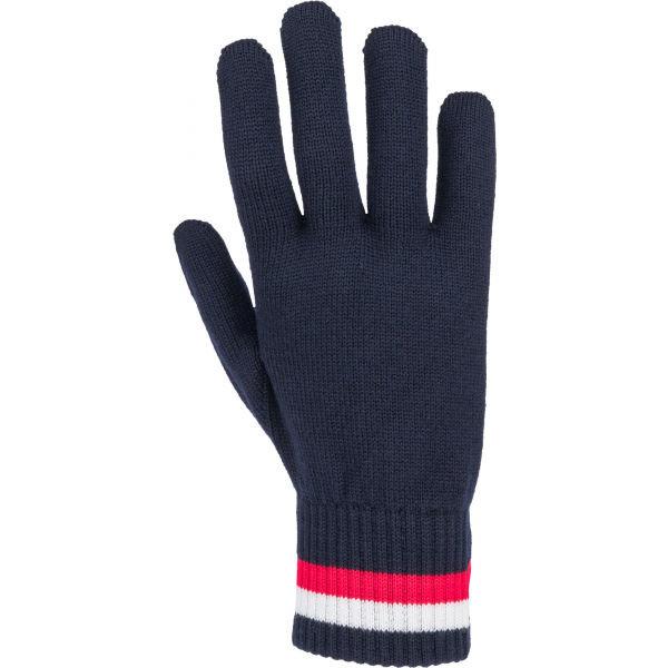 Modré pánské zimní rukavice Tommy Hilfiger - univerzální velikost