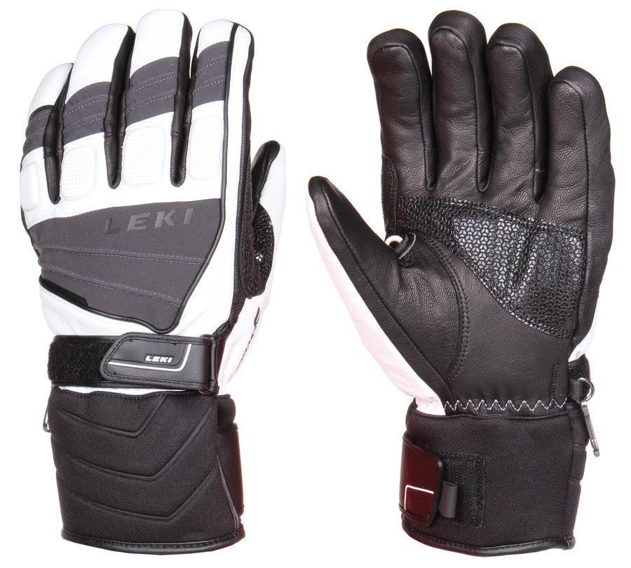 Bílo-černé lyžařské rukavice Leki