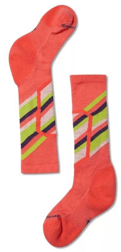 Oranžové dětské lyžařské ponožky SmartWool