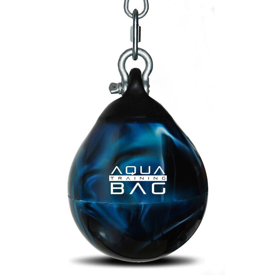 Černo-modrý vodní boxovací pytel Aqua Training Bag - 7 kg