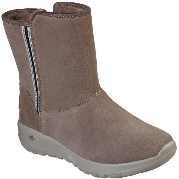 Hnědé dámské zimní boty Skechers