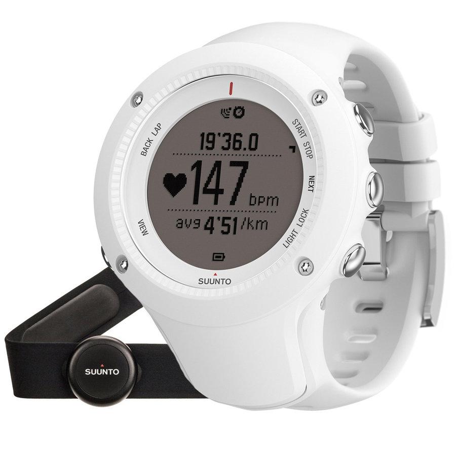 Bílé digitální sportovní hodinky Ambit3 Run (HR), Suunto