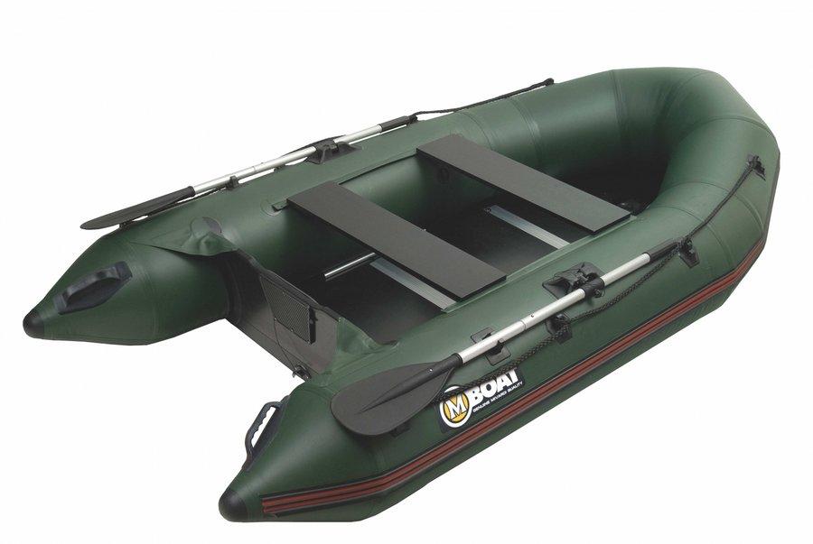 Zelený nafukovací člun pro 4 osoby Mivardi