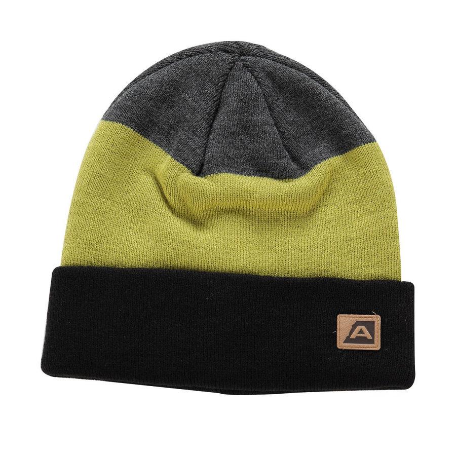 Černo-žlutá dámská zimní čepice Alpine Pro