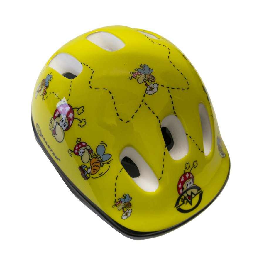 Žlutá dětská cyklistická helma Master - velikost 44-48 cm