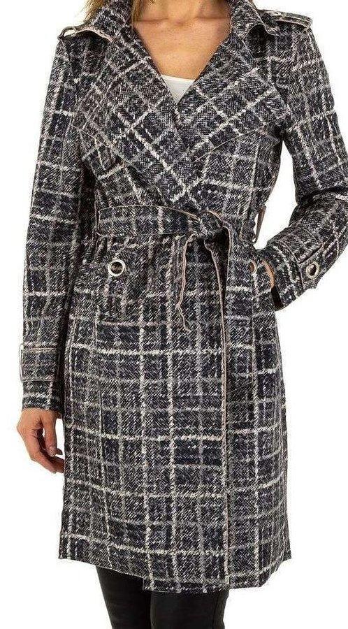 Šedý dámský kabát Voyelles - velikost S