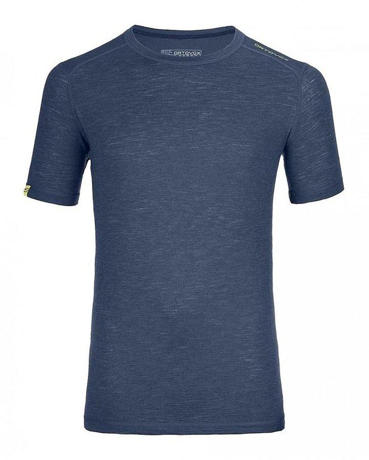 Modré pánské termo tričko s krátkým rukávem Ortovox