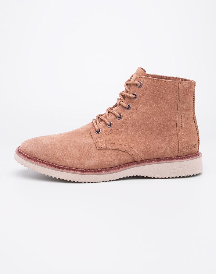 Hnědé pánské kotníkové boty Toms