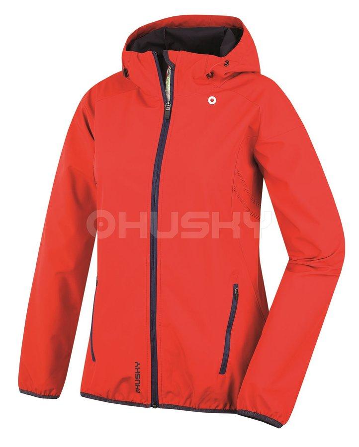 Červená softshellová dámská bunda Husky - velikost M