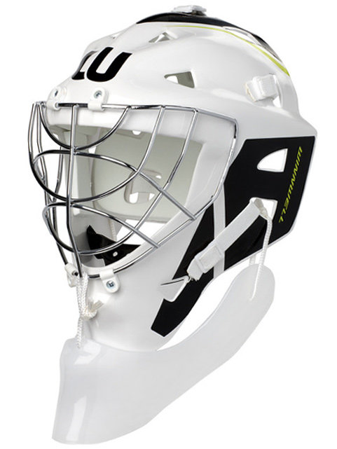 Bílá brankářská maska - senior Premium, Winnwell