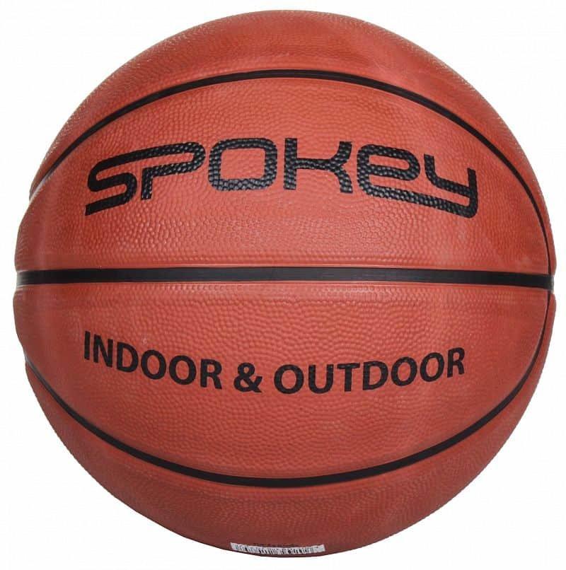 Hnědý basketbalový míč BRAZIRO II, Spokey - velikost 6