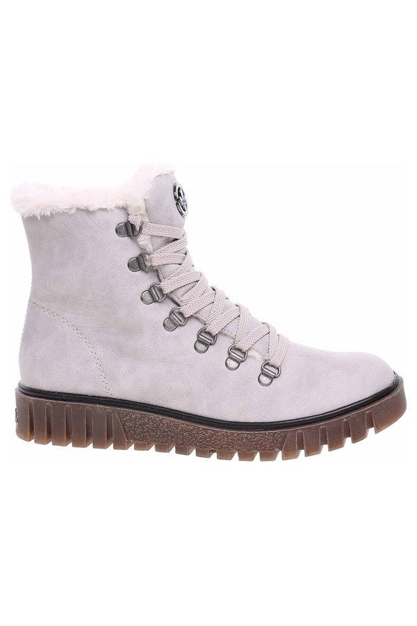 Šedé dámské kotníkové boty Rieker