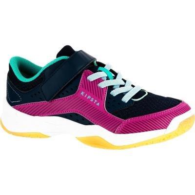 Černo-růžové dívčí boty na volejbal ALLSIX