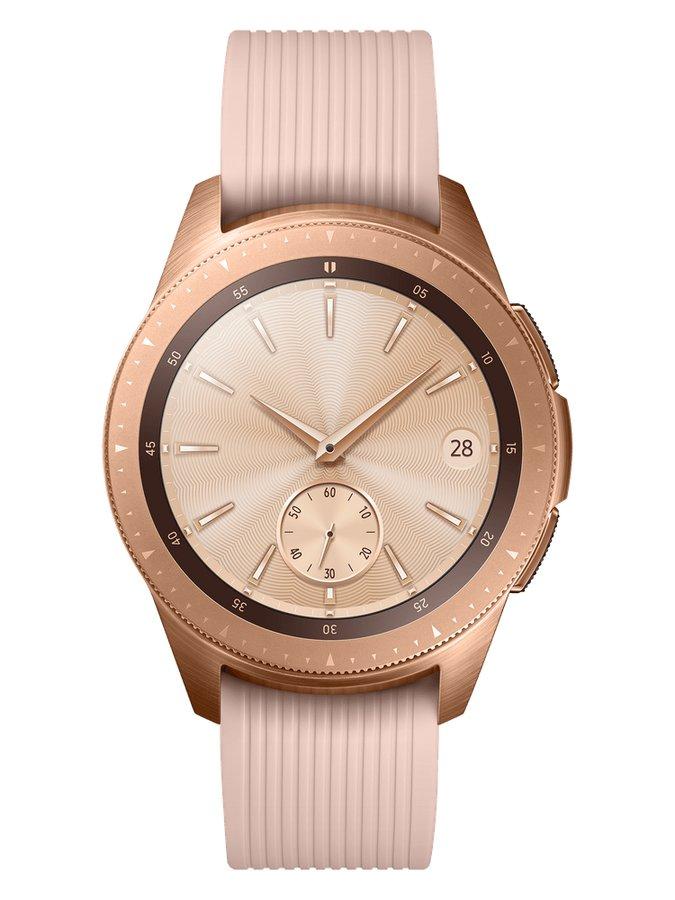 Růžové analogové chytré hodinky Galaxy Watch, Samsung