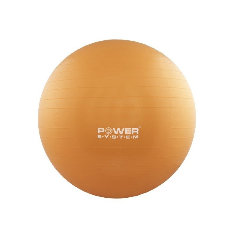 Oranžový gymnastický míč Power System - průměr 55  cm