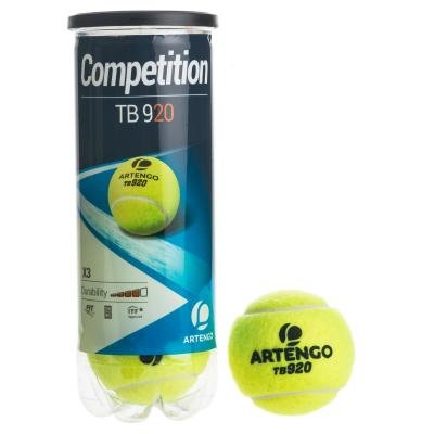 Žlutý tenisový míček TB920, Artengo - 3 ks