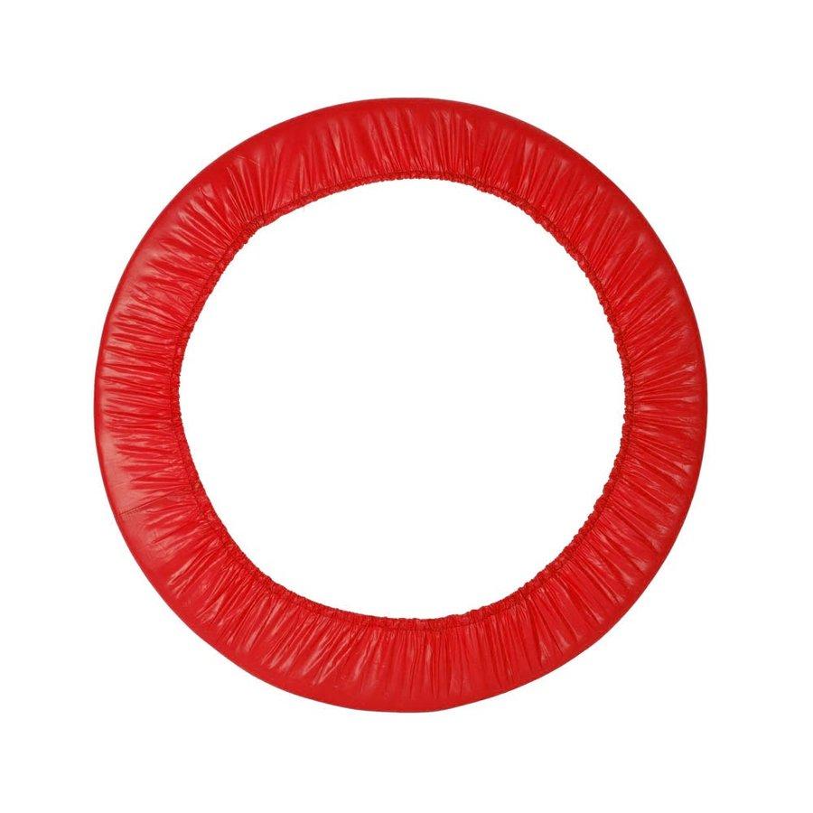Červený kryt pružin na trampolínu inSPORTline - průměr 122 cm a šířka 16 cm